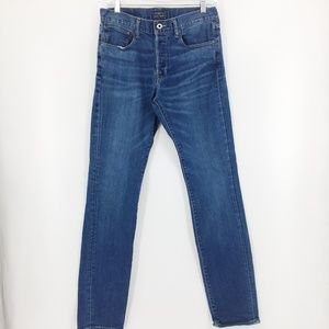 Lucky Brand 1 Authentic Skinny Mens Blue Denim 30W